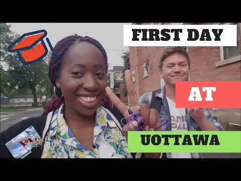 STUDY ABROAD CANADA 2017 VLOG #2 FIRST DAY AT UOTTAWA