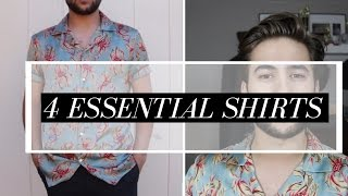 4 Shirts Every Guy Needs | Mens Wardrobe Essentials