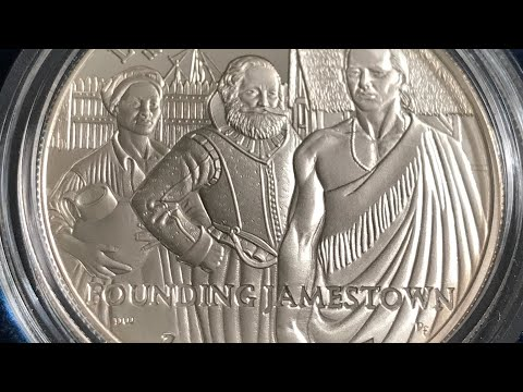Jamestown 400th Anniversary Silver Commemorative Dollar Proof Coin 2007 US Mint