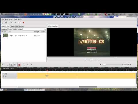 How to edit and remove commercials with open shot Linux