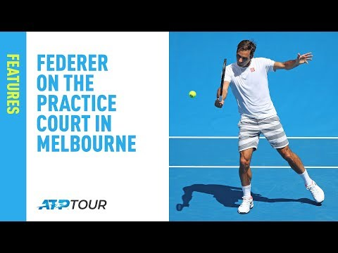 Join Federer on the Practice Courts in Melbourne