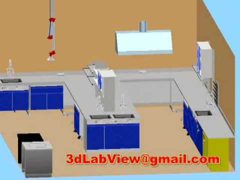 3D Laboratory Furniture Design