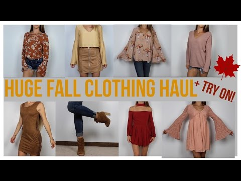 Huge Fall Clothing Haul + Try on! | F21 AE Show Me Your Mumu