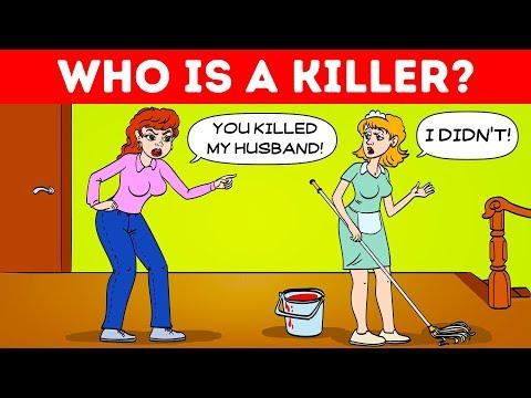 13 LOGIC RIDDLES FOR CRIME EXPERTS! ???? FUN IQ TEST ????