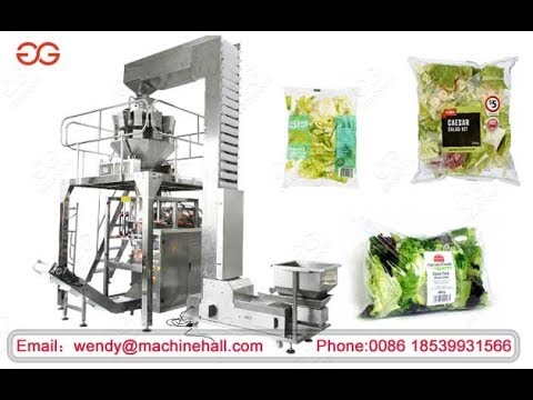 Automatic Fresh Salad Vegetable Weight Packing Machine Manufacturer