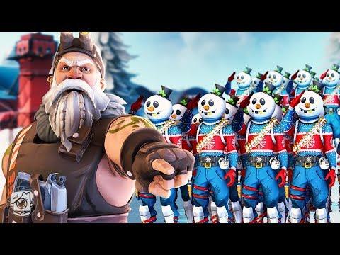 SGT. WINTER BUILDS A SNOWMAN ARMY!? *NEW SLUSHY SOLDIER SKIN* - A Fortnite Short Film
