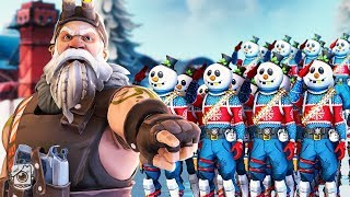 SGT. WINTER BUILDS A SNOWMAN ARMY!? *NEW SLUSHY SOLDIER SKIN* - A Fortnite Short Film