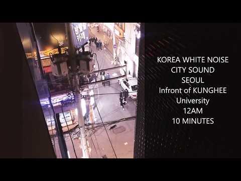 [KOREA WHITE NOISE] 12AM SEOUL CITY SOUND 10 minutes