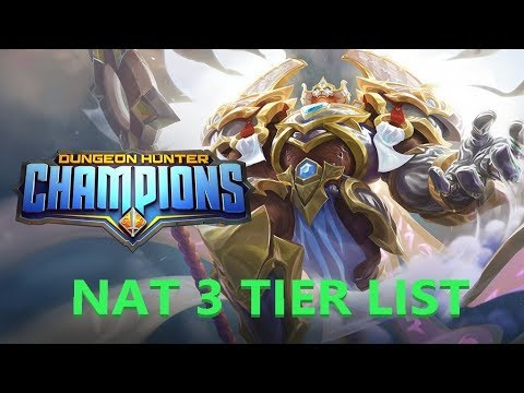 BARCODE - DUNGEON HUNTER CHAMPIONS - NAT 3 TIER LIST AND EXPLANATIONS