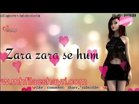 Zara Zara Se Hum Badlne Lge Sad Love 30s || New Romantic || WhatsApp Status || #mhfilaeshayri.com ||