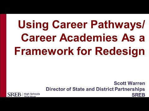 Session 10: Using Career Pathways/Career Academies as a Framework for School Redesign