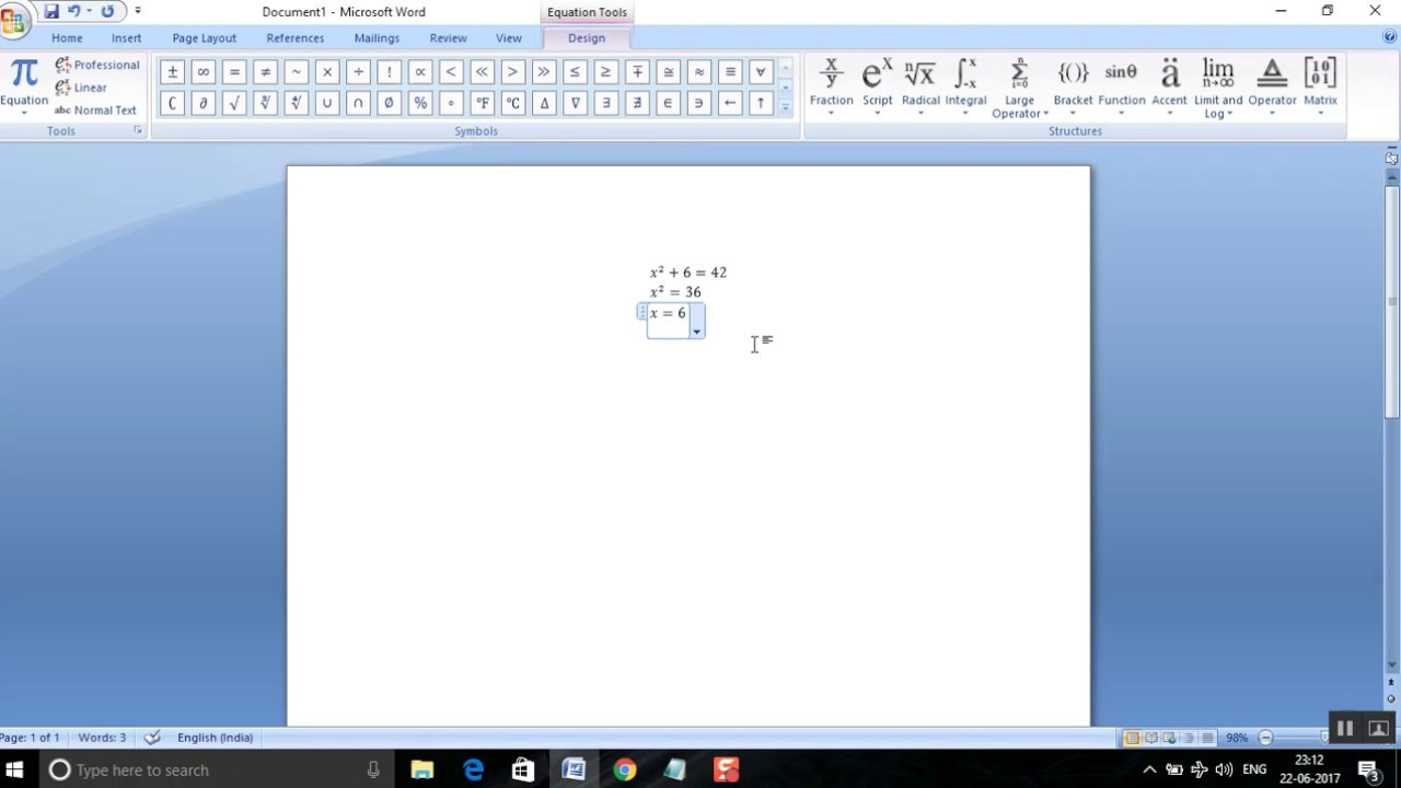 how to write power in word equation