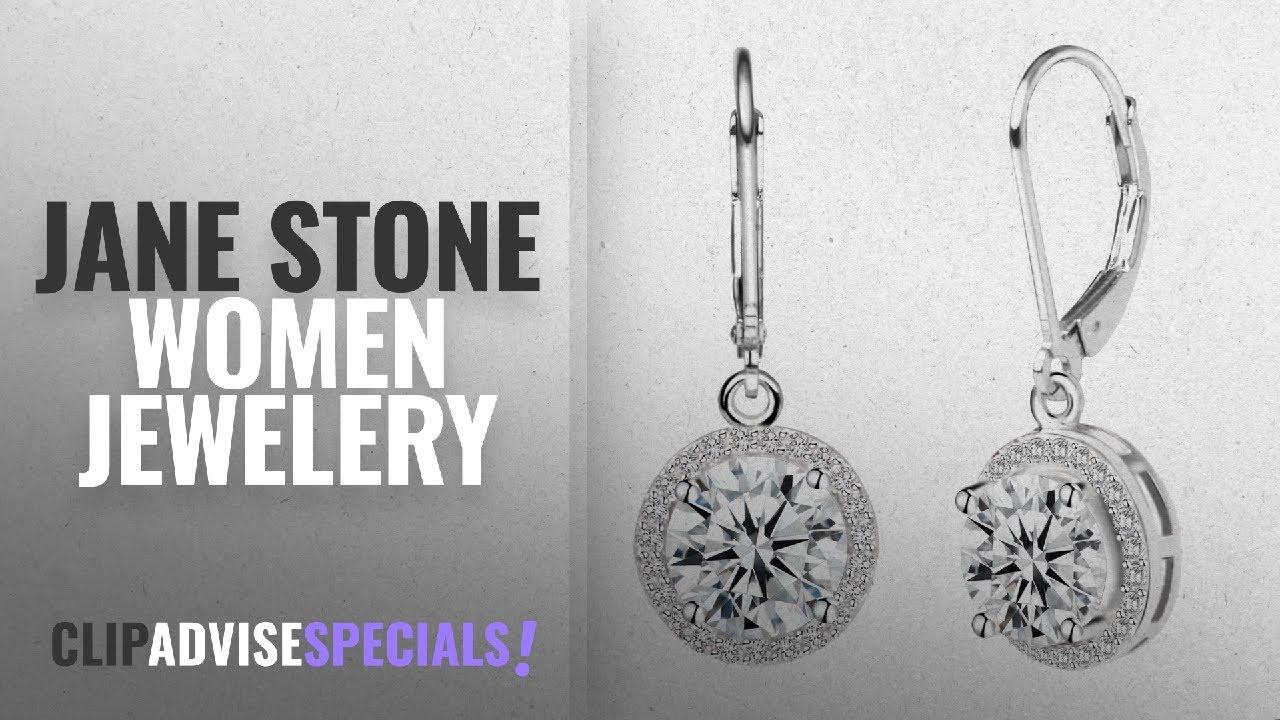 bea826a0e 10 Best Selling Jane Stone Women Jewelery  2018    Jane Stone Sterling  Silver Earrings Cubic