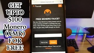 Free Monero Faucet - Up to $100 XMR in just 5 minutes