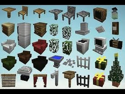 comment avoir des meubles sur minecraft sans mod youtube. Black Bedroom Furniture Sets. Home Design Ideas