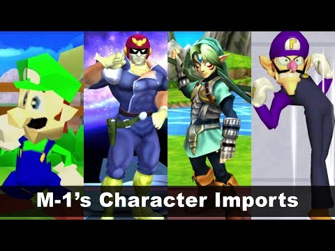 M-1's Character Imports in Super Smash Bros for 3DS! - Super Smash Bros 3DS Mod #3