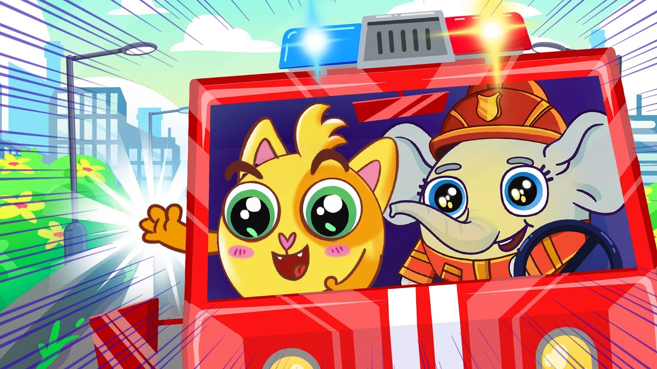 Firefighters Song 🚒🧑🚒 | Baby Zoo Kids Songs 😻🐨🐰🦁 And Nursery Rhymes