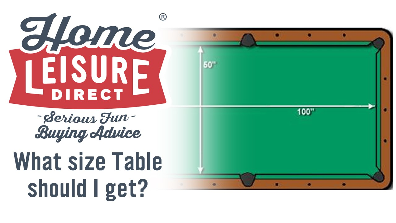 What Size Pool Table Is Right For Me?   Pool Table Buying Advice