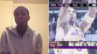 Watch all of Kobe Bryant's 81 points in 3 minuets Reaction