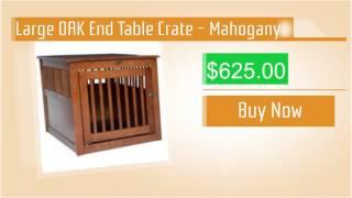 Large Oak End Table Crate - Mahogany
