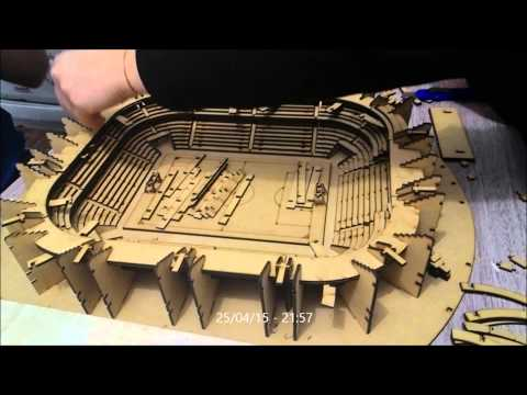 Montagem Arena do Grêmio em mdf