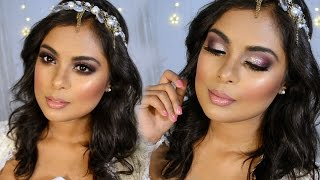 Sparkly Summer Bridal Wedding Makeup Tutorial   Flawless Full Face Makeup Look For Any Occasion