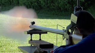 Rifle Blast: Best Rifle Shots II Black Powder Rifle Firing - Muzzleloader Rifle Blasts Video NMLRA