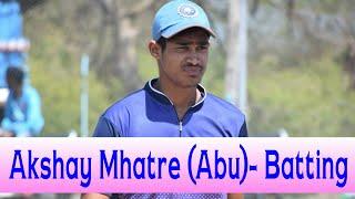 vuclip Akshay Mhatre Abu Batting in Milkatkhar Tennis Cricket Tournament 2018