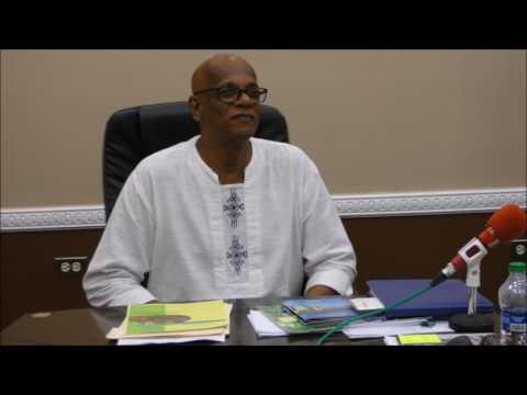 Dr. Rev  Stephen Joshua pay courtesy call on His Worship Alderman  Junia Regrello - July 27, 2017