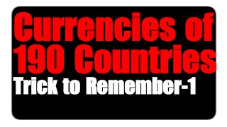 Tricks on All Countries Currencies & Capitals in 1 Video