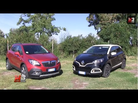 opel mokka vs renault captur - test drive - youtube