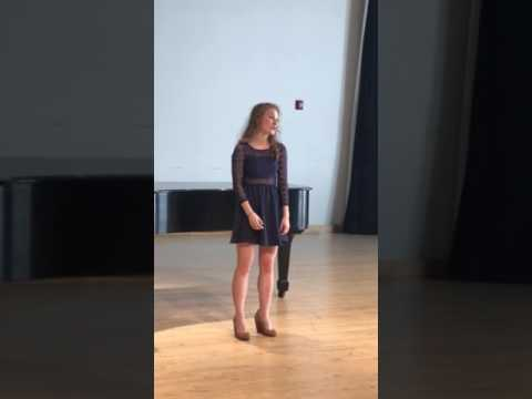 Maddy singing at her spring recital at Boston Conservatory