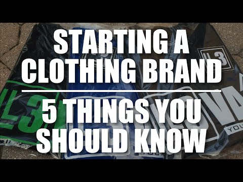 4a553cd94e Starting A Clothing Brand | 5 Things You Should Know - YouTube