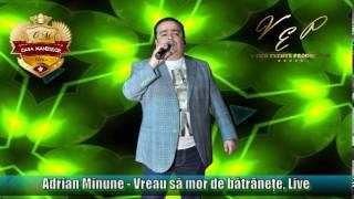 ADRIAN MINUNE - VREAU SA MOR DE BATRANETE (CASA MANELELOR), LIVE