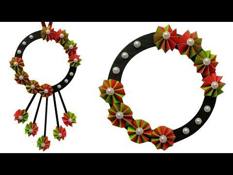 Diy: How To Make A Beautiful Paper Flower Wall Hanging | Tahiya Crafty Creation