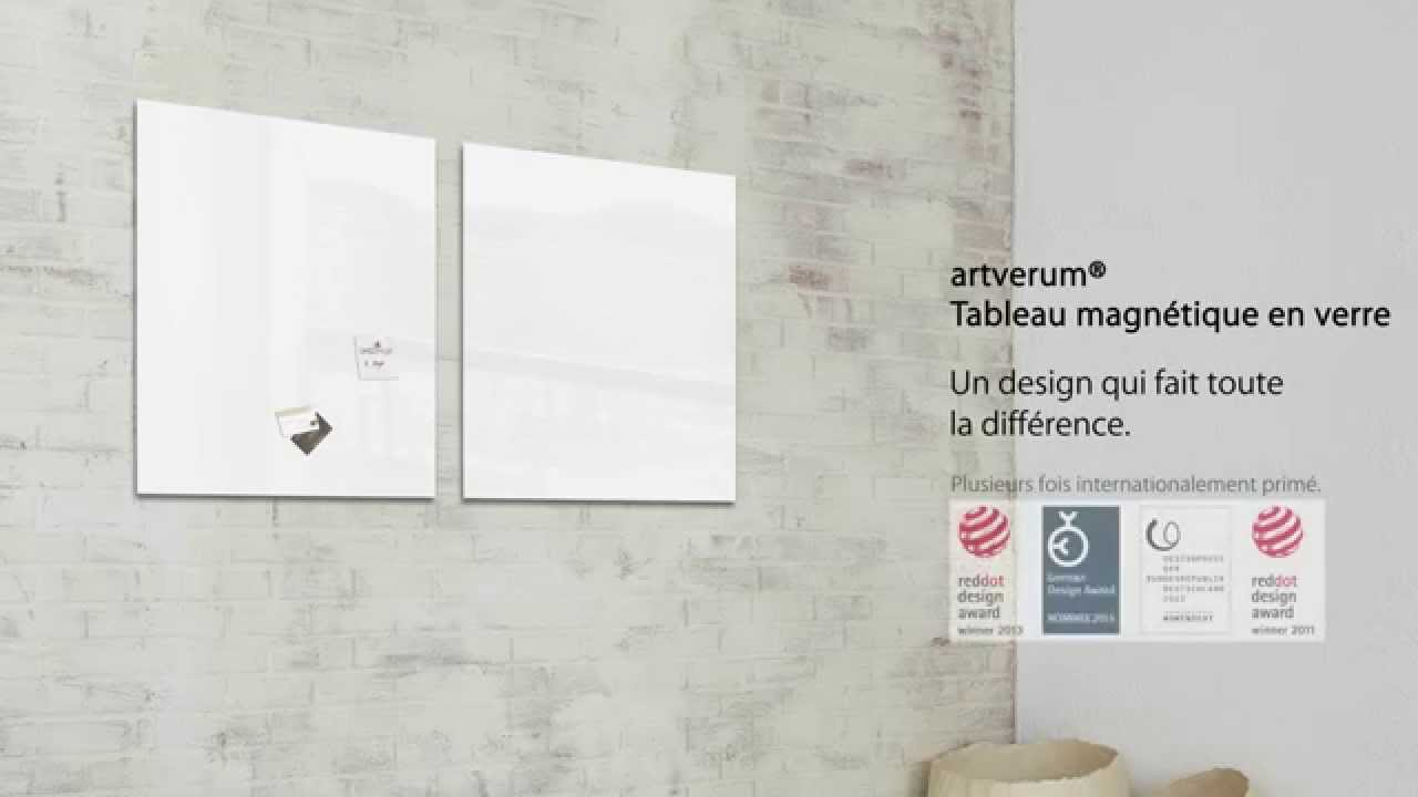 tableau magn tique en verre 39 39 artverum 39 39 48 x 48 cm blanc gl111 youtube. Black Bedroom Furniture Sets. Home Design Ideas