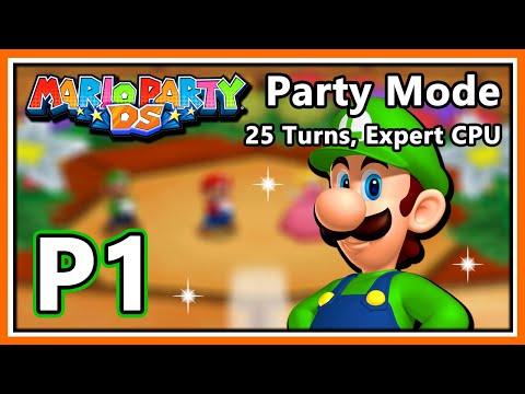 Mario Party DS Walkthrough - Party Mode (25 Turns, Expert) - Part 1 (HD 1080p)