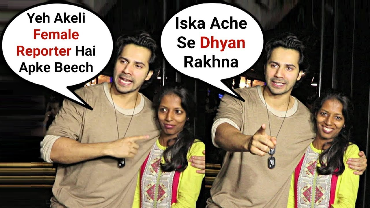 Varun Dhawan Warns Reporter To Behave Properly With Female Reporter