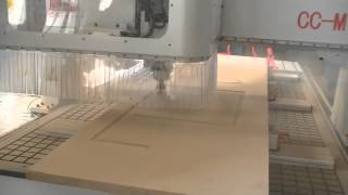 Three Spindles Automatically Change Wood Door Making Cnc Router