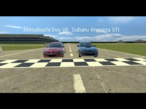 motor vs motor 3 mitsubishi evo vii vs subaru impreza. Black Bedroom Furniture Sets. Home Design Ideas