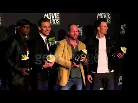 Samuel L. Jackson, Tom Hiddleston, Joss Whedon, Chris Evans at 2013 MTV Movie Awards