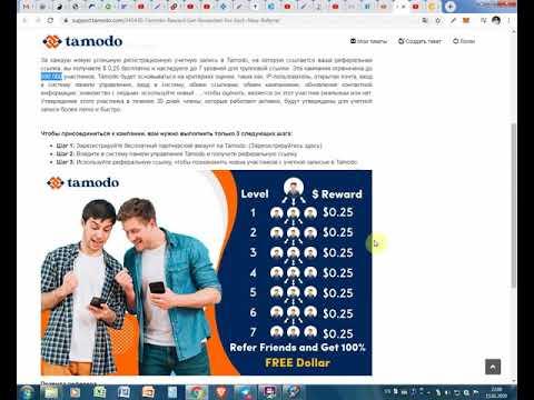 Заработай денег для IncomesBuilder через сайт Tamodo