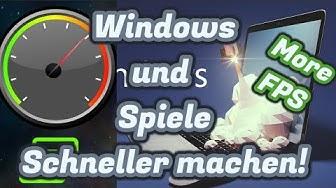 Spiele und System deutlich schneller machen! / Mehr FPS / Schneller / Programme / PC