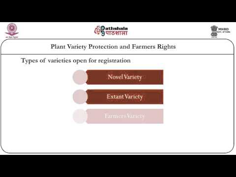 Plant Variety protection and farmers rights