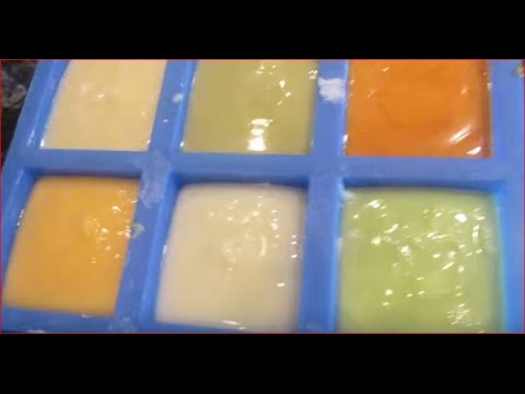 CP Soap Natural Color Testing With Barley, Carrot Juice, Moringa ...