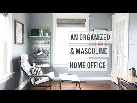An Organized and Masculine Home Office Tour