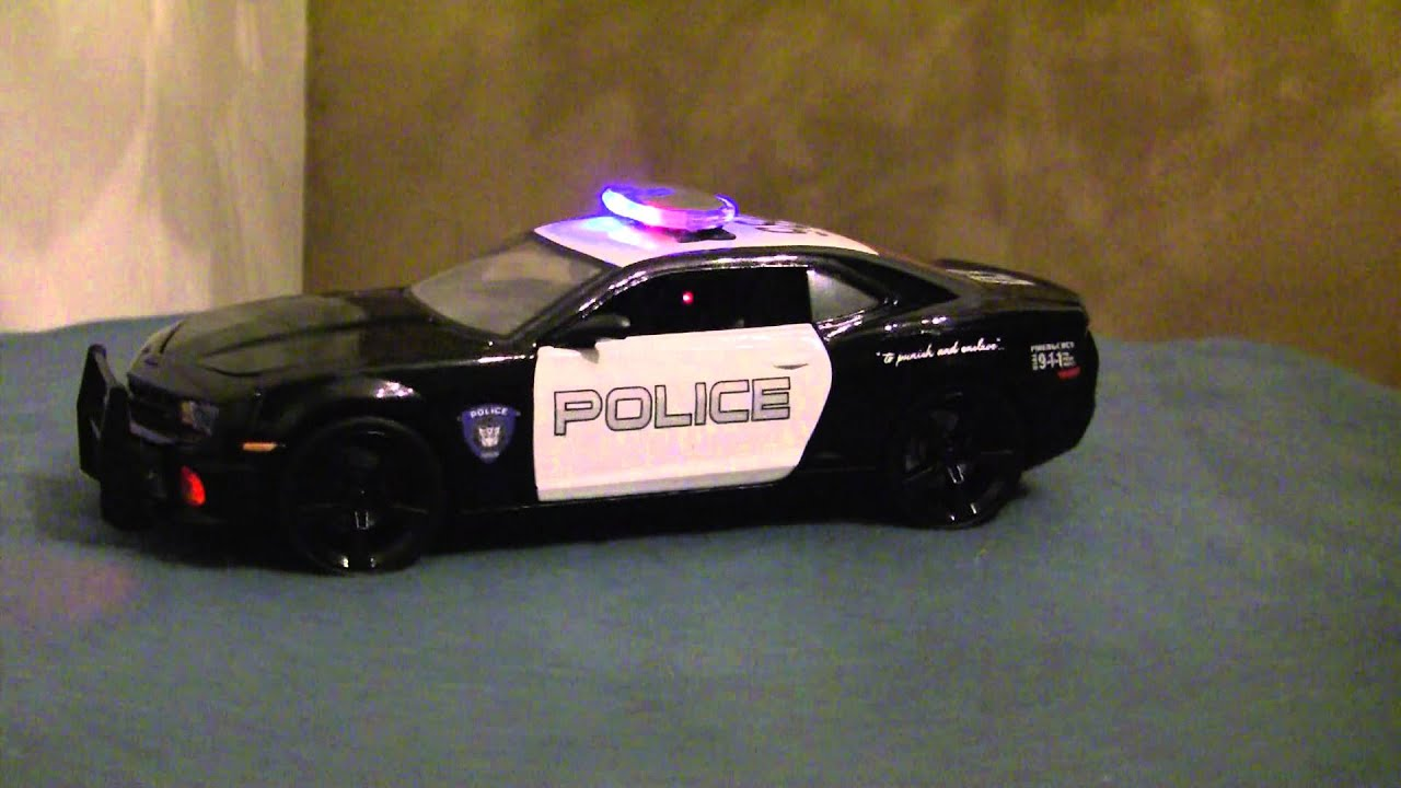1 18 Tranformer Police Car Camaro Bumblebee Custom Built