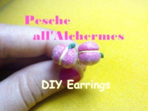 Pesche all'Alchermes in pasta polimerica (Alchermes Peaches Earrings) - Polymer Clay Tutorial