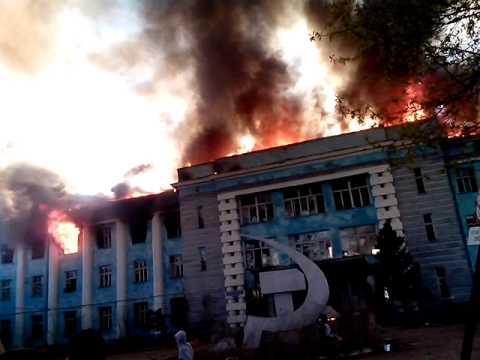 Пожар в Рубцовске