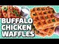 BUFFALO CHICKEN WAFFLES!!!
